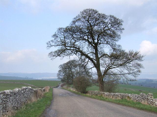 The road to Conksbury Bridge.