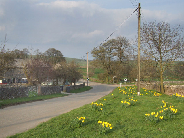 Road junction at Townend Farm.