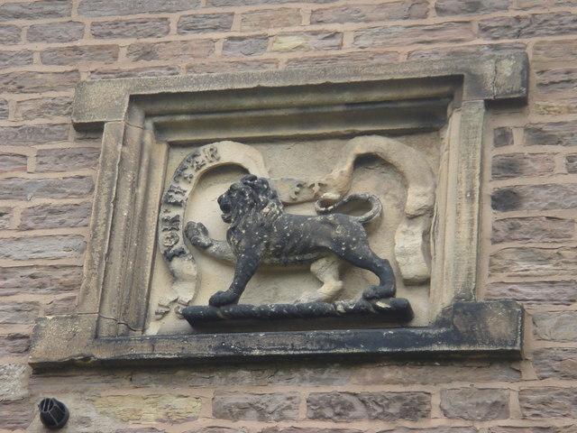 Carving on Penwortham Priory Lodge