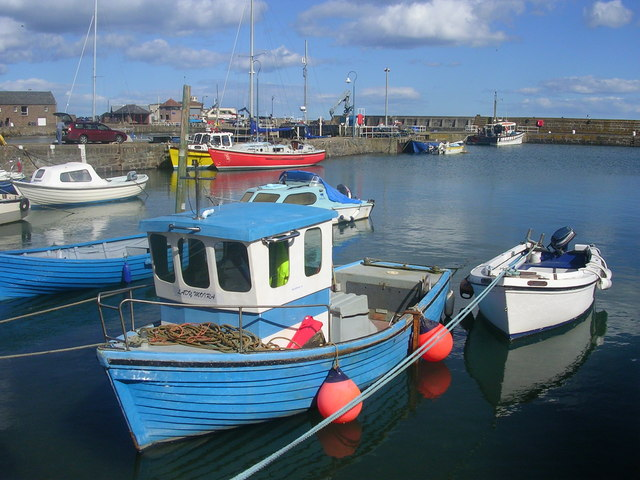 Boats at Stonehaven Harbour