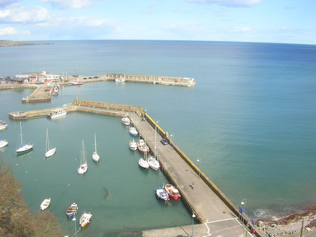 View over Stonehaven Harbour