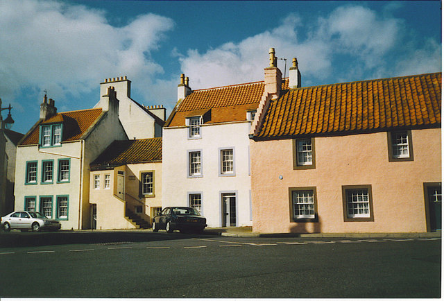 """Some """"Wee Hooses o' Fife"""", St Monans."""