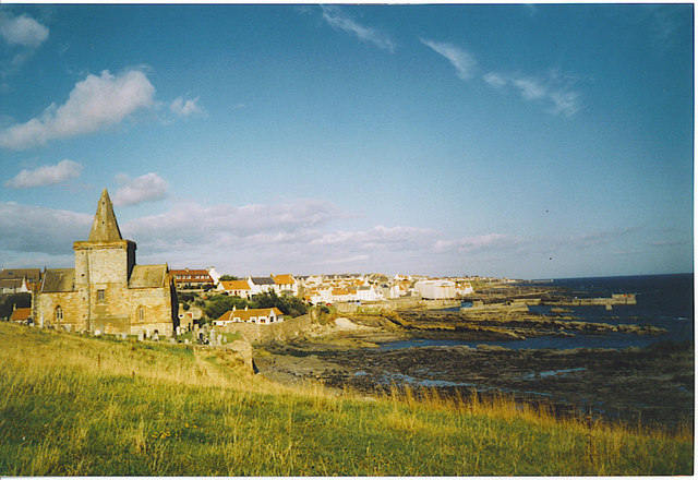 St Monans, Old Kirk and Partan Craig.