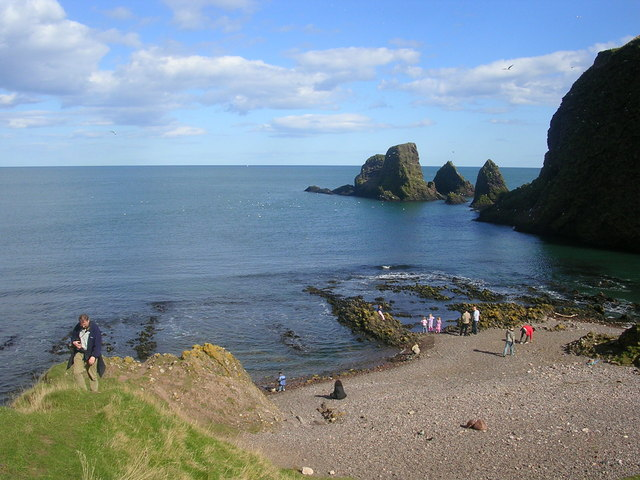 Beach by Dunnottar Castle