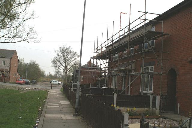 Council housing renovation (1), Eaton Terrace