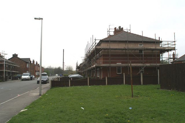 Council housing renovation (3), Westwood Lane, north side
