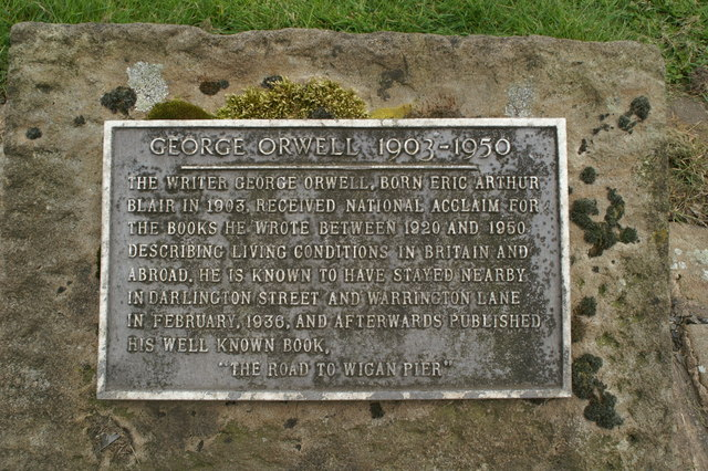 Plaque commemorating George Orwell