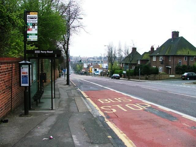 Perry Road Bus Stop on Hucknall Road