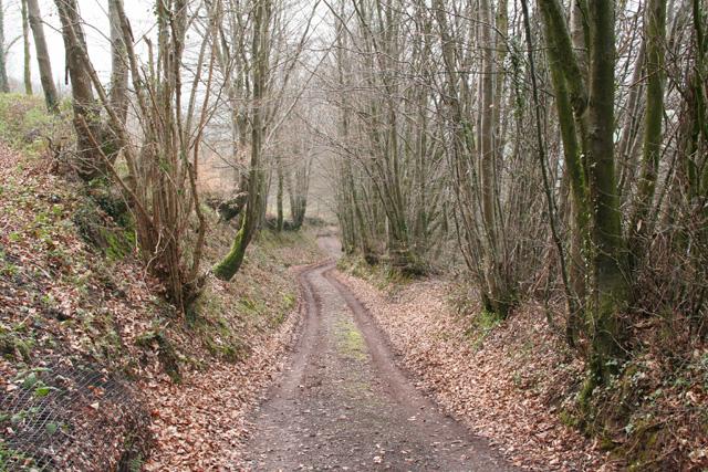 Huish Champflower: footpath at Huish Cleeve