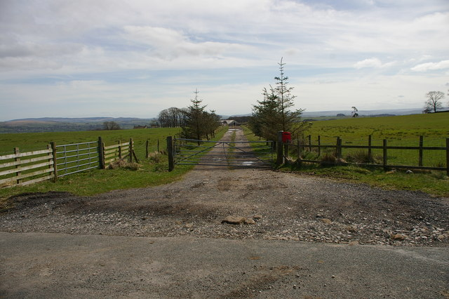 Entrance and road to Street House Farm