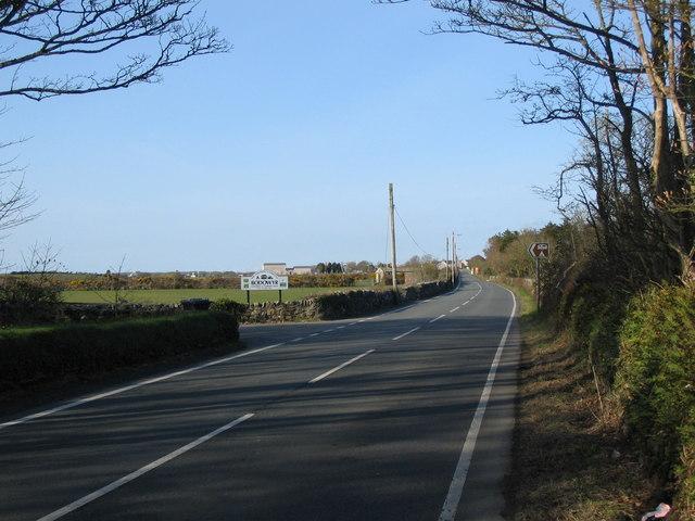 Approaching Bodedern