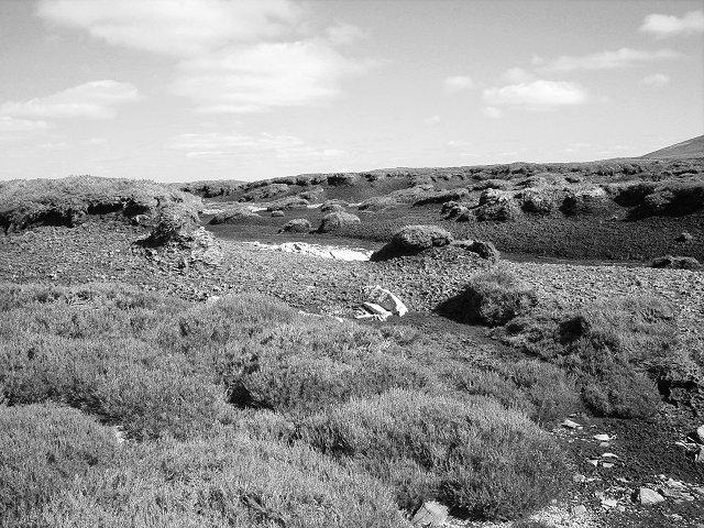 Peat hags beneath Meall Reamhar