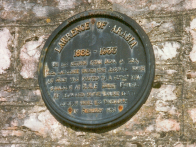 T.E. Lawrence plaque, Turnchapel 1997