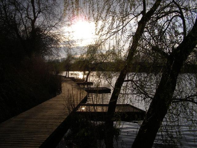 Sunset at Clattercote reservoir
