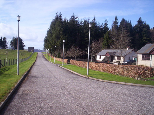 Road to Scottish Water Works at Lintrathen