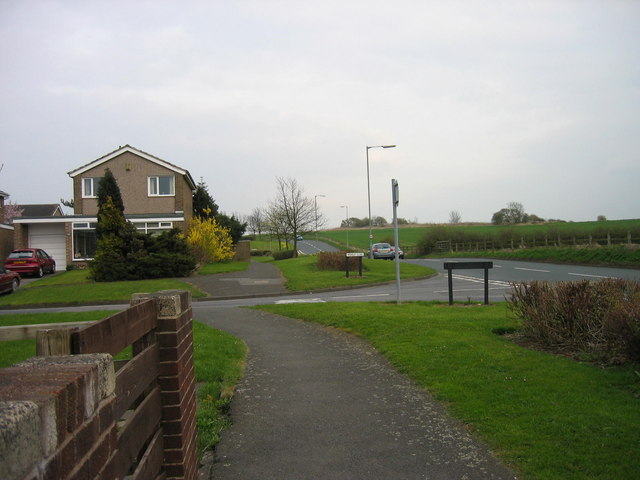 Housing estate and farmland, Urpeth