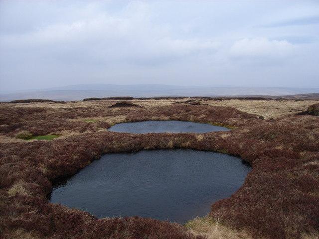 Moorland pools on Dufton Fell