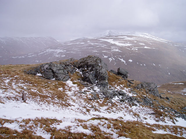 Rock outcrop on Beinn Odhar