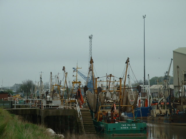 Fishing fleet at King's Lynn, Norfolk.