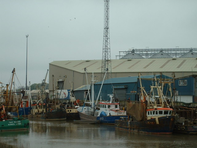 Fishing fleet at King's Lynn, Norfolk.