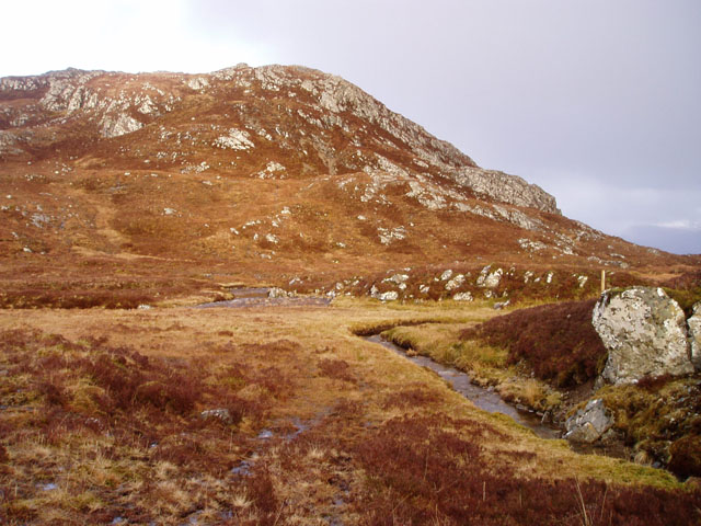 On the southwest ridge of Glas Bheinn