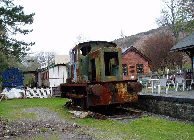 Old Loco at the Erwood Centre Craft Centre