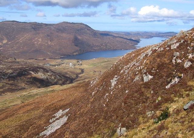 Steep slopes of Beinn an Fhurain