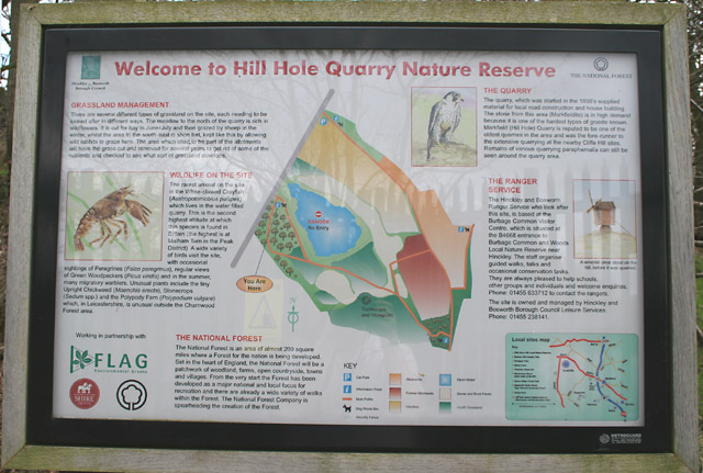 Information Board, Hill Hole Quarry