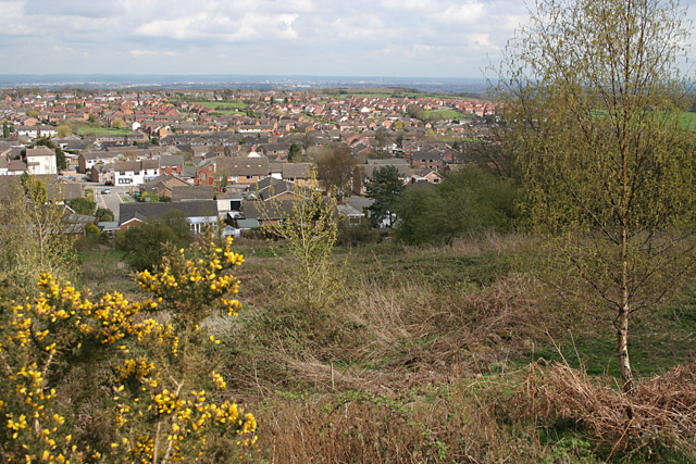Markfield from the Hill at Hill Hole Nature Reserve