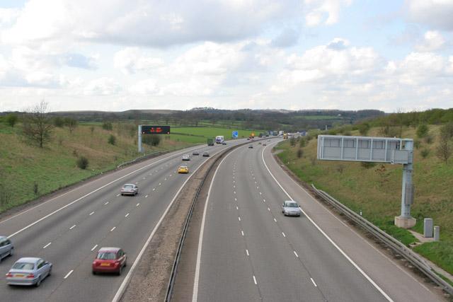 M1 Motorway at Markfield