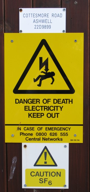 Ashwell electricity sub-station notices
