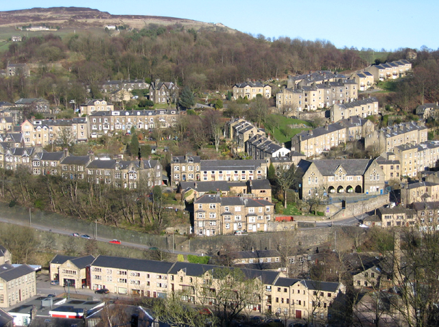 View over Hebden Bridge, W Yorks