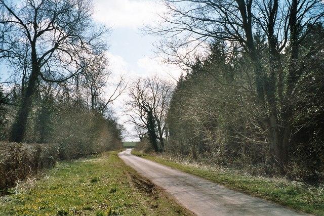 Minor road near Sarsden House