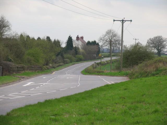 View south along B585