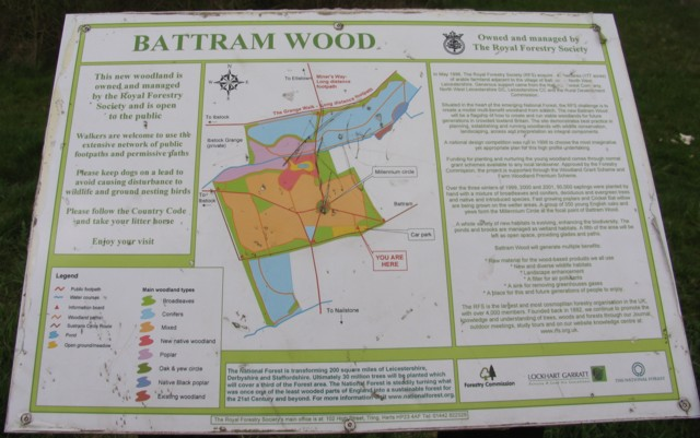 Battram Wood information sign