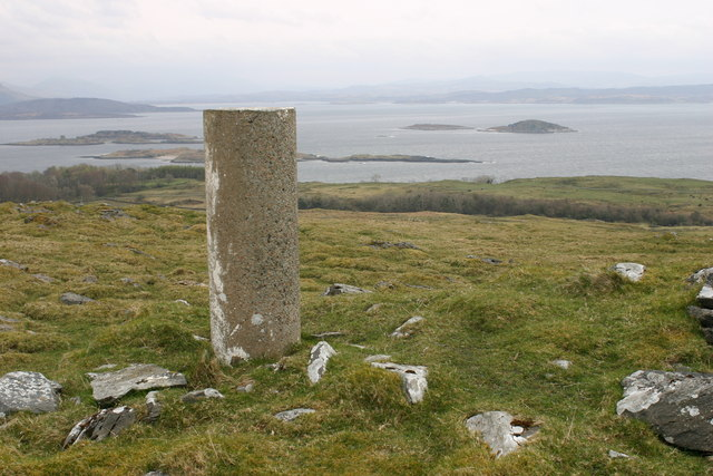 Barr Mor trig on Lismore