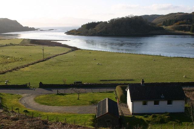 Looking seawards from Loch Feochan