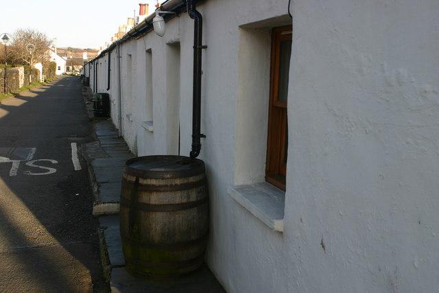 Whitewashed cottages at Ellenabeich