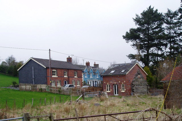 Old houses at Pant y Dwr
