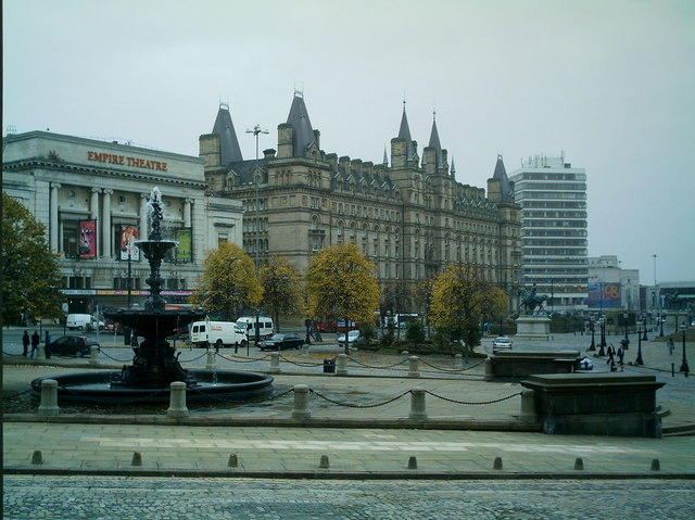Lime Street from William Brown Street. Liverpool