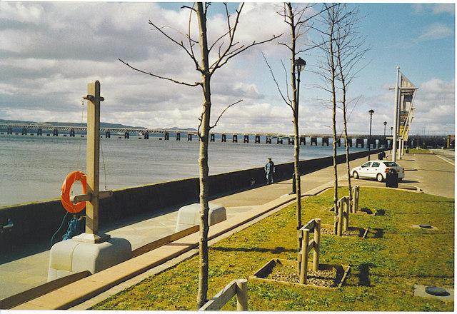 Tay Rail Bridge and Riverside Drive, Dundee.