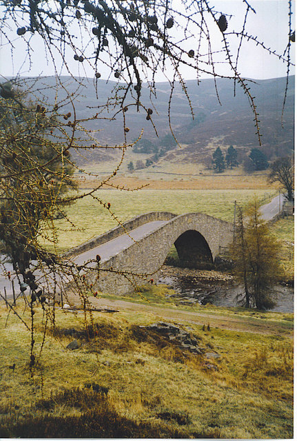 Gairnshiel Bridge from the North-west.