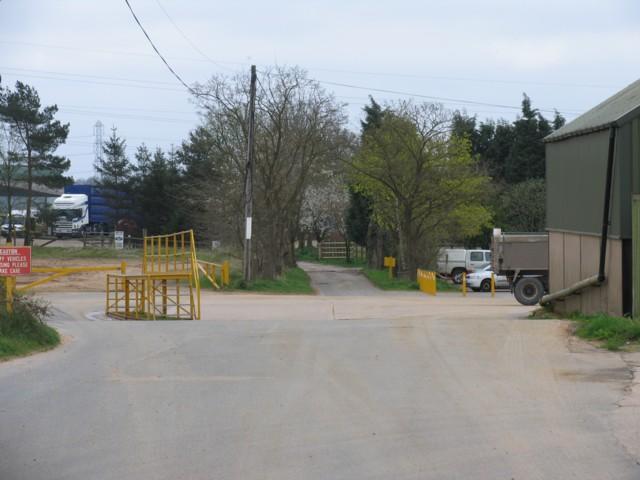 Entrance to Naneby Hall Farm