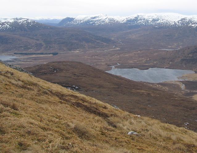South western ridge on An Faochagach