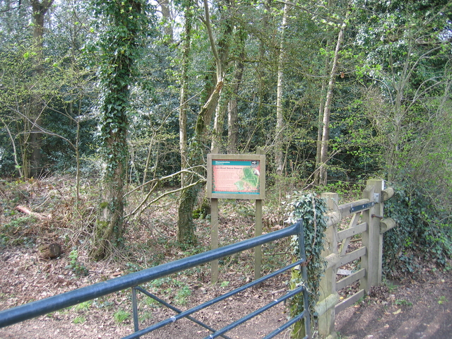 Entrance to Lion Wood Nature reserve