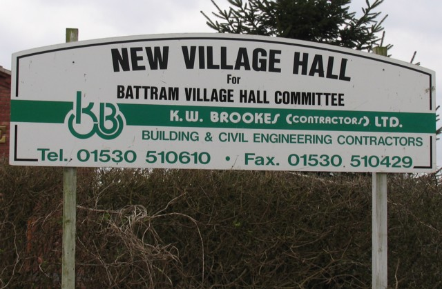 Builder's Village Hall Sign