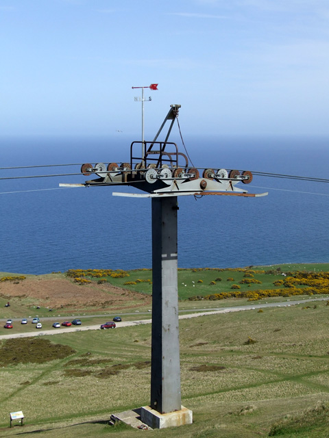Cable car pylon on Great Orme Summit
