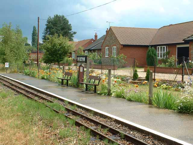 Buxton Station on the Bure Valley Railway