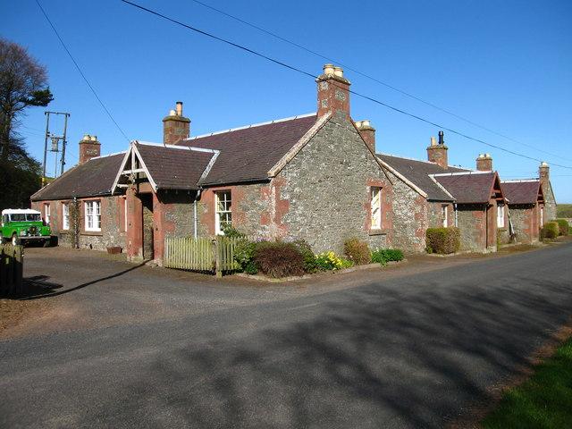 Cottages at Halls, near Spott
