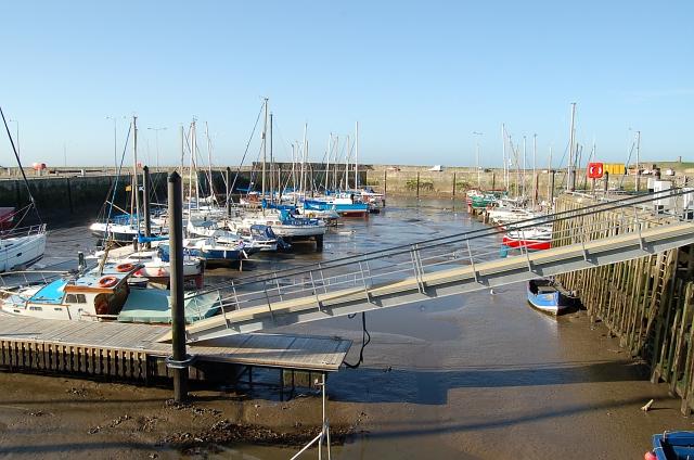 Floating pontoon, Anstruther harbour